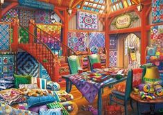 Quilt Shop - 500pc Jigsaw Puzzle By Buffalo Games