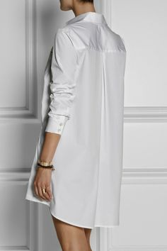 Vestido camisero White Outfits, Summer Outfits, Casual Outfits, White Shirts Women, Cotton Shirt Dress, I Dress, Designer Dresses, Fashion Dresses, White Dress