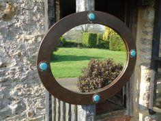 Antiques Atlas - Arts & Crafts Liberty Oval Mirror With Ruskins Copper Mirror, Oval Mirror, Mirror Plates, Mirrors, Liberty, Arts And Crafts, Landscape, Antiques, Glass