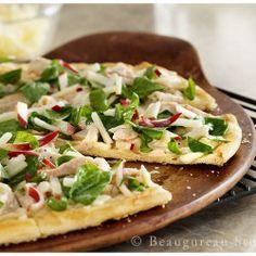 White BBQ Chicken Pizza