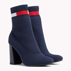 Explore the ultimate gift edit by Tommy Hilfiger and enjoy free and easy returns. Tommy Hilfiger Shoes, Socks And Heels, Shoes Heels Boots, Heeled Boots, Ankle Boots, Fashion Boots, Sneakers Fashion, Sock Boots Outfit, Girls Shoes