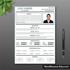 Resume Template In Microsoft Word Cover Letter And Portfolio