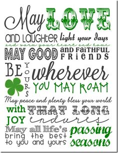Irish Blessing Subway Art Free Printable-- I could decoupage this on a plaque or canvas... :)