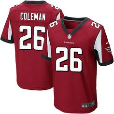 Nike Elite Tevin Coleman Red Men's Jersey - Atlanta Falcons #26 NFL Home