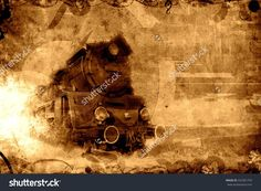Old Steam Train Sepia Background Texture Fotka: 222361759 : Shutterstock