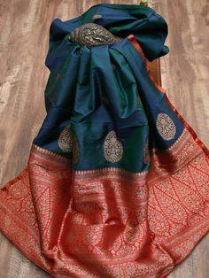 Sacred Weaves - Shop for Exquisite Banarasi Sarees Online Blue Silk Saree, Kanjivaram Sarees Silk, Indian Silk Sarees, Soft Silk Sarees, Chiffon Saree, Orange Saree, Kanchipuram Saree, Bridal Sarees South Indian, Cotton Saree Blouse Designs