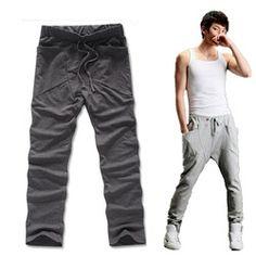 Online Shop Fashion Drop Crotch Pants Mens Skinny Harem Sweatpants Men Bandana Soccer Training Baggy Cargo Hip Hop Jogging Boys Yoga Jogger|Aliexpress Mobile