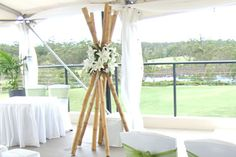 floral bamboo teepee