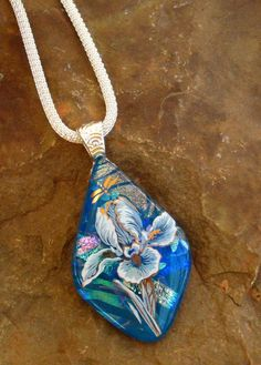 Dichroic Fused Glass Pendant Fused Glass Flower by GlassCat, $30.00