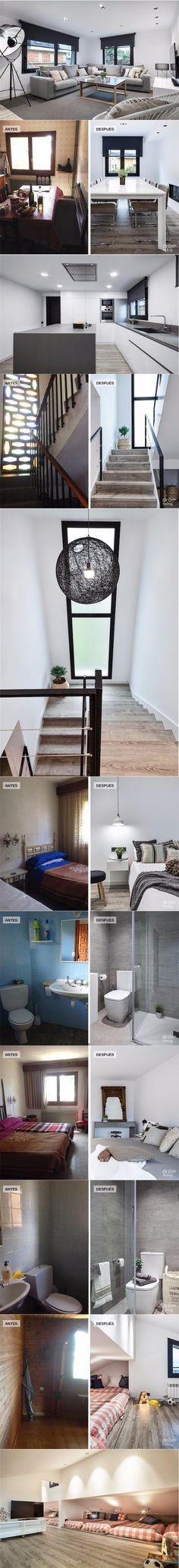 El Antes y después de una casa en la montaña / http://www.chicanddeco.com/