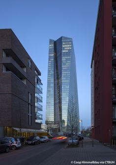 ECB - European Central Bank, Frankfurt am Main-Germany   183.7 m / 603 ft   Completion 2014   Coop Himmelb(l)au