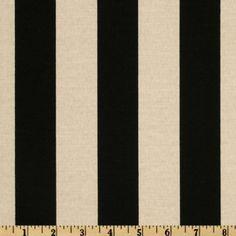 Maco Indoor/Outdoor Bouquet Stripe Black/Beige fabric.com $8.98 per yard
