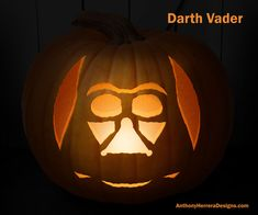 Print and Carve Out Star Wars Pumpkins. Darth Vader Pumpkin
