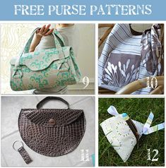 still looking for the perfect purse, maybe it is here and i will have to make it....24 diy purse patterns
