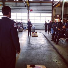 Cornhole at the Firehouse! #ChicagoFire