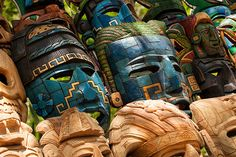 #3 Mexican local crafts. Mayan Masks | Chichen Itza | Mexico
