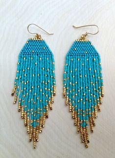 Gold Fleck Earrings by wildmintjewelry on Etsy, $52.00