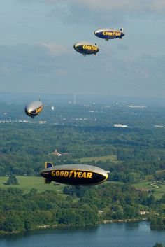 Akron blimps! Mom got to up in one of these with mrs Barrett