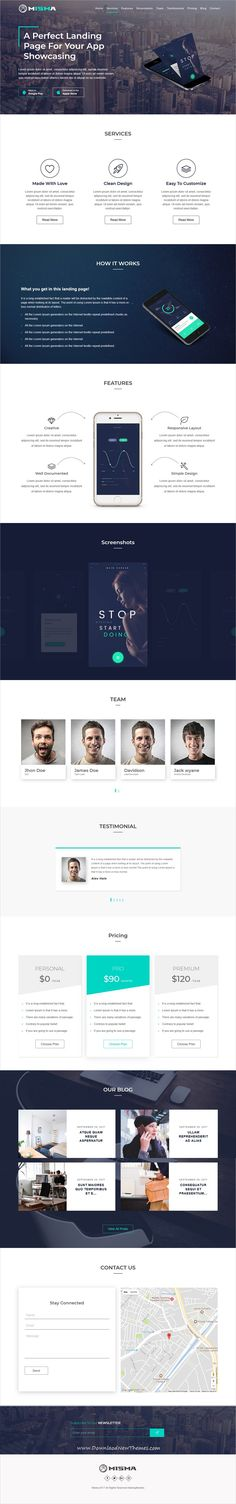 Misma is clean and modern design responsive #WordPress #template for creative #Mobile #app showcase website with blog to live preview & download click on image or Visit