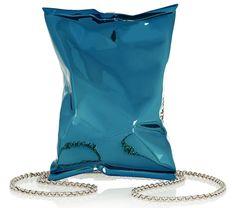Anya Hindmarch Crisp Packet Clutch Blue