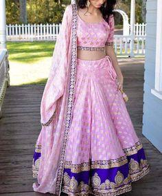 Indian PINK Lehenga Choli Ethnic Bollywood Wedding Bridal Party Wear Dress New Pink Lehenga, Lehenga Choli, Anarkali, Brocade Lehenga, Lehenga Skirt, Lehenga Style, Lehenga Blouse, Indian Attire, Indian Wear