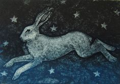 Frisky Legs, Collagraph Hester Cox Hester is a printmaker based in Masham. Her work is a mixture of collagraphs, relief and solarplate prints. She designs each one on paper before making the printing plates which she then hand inks and prints in her studio using an etching press.