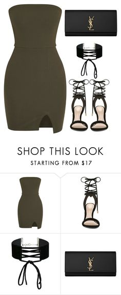 """""""I'm in love with the Shape of you."""" by bria-myell ❤ liked on Polyvore featuring ALDO, Miss Selfridge and Yves Saint Laurent"""