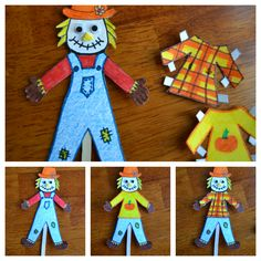 Scarecrow Paper Doll.  You could just draw your own scarecrow if you didn't want to pay the $.99 fee for the template.