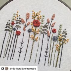 Embroidery / hoop art / inspo / floral