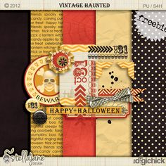 stellajanedesign: Vintage Haunted freebie