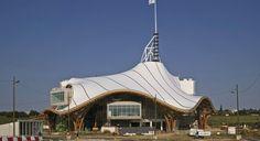 Dřevěné zastřešení Centra Georges Pompidou-Metz