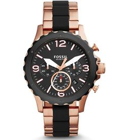 Fossil Nate Watch - Men's Watches in Rose Gold | Buckle
