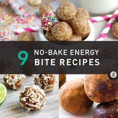 9 No-Bake, No-Fuss Energy Bite Recipes #healthy #energy