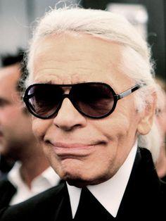 Glamourlooks für Karl Lagerfeld