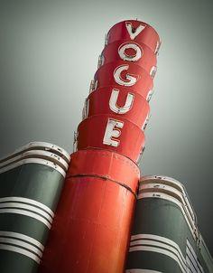 Vogue Theater, Oxnard, CA - Vintage Neon Sign Vintage neon sign from my SIGN LANGUAGE Collection http://flic.kr/s/aHsjvjCUKz