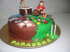 A arte de lembrar...: Bolo Aniversário - Agricultor - Carpinteiro - Aluno