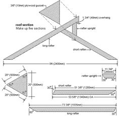 How to build a greenhouse      STEP 3. The roof frame sections   Make up five roof sections that span from side-wall to side-wall. Refer to the plans and instructions below.