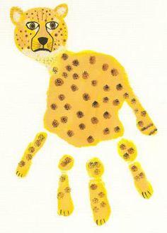 1000 Images About Animal Handprints On Pinterest Handprint Art