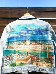 This jacket with Budapest city and Danube panorama on it's back is already fund it's owner. But I painting on order!You can choose the theme or maybe we can find it together? let's fantasize! Budapest City, I Just Need You, Together Lets, Painted Jeans, Denim Jeans, The Originals, Jackets, Painting, Art