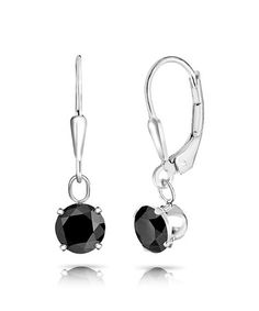 Loving this Black Sapphire & Sterling Silver Round-Cut Drop Earrings on #zulily! #zulilyfinds