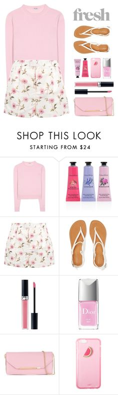 """""""Fresh FASHION"""" by groove-muffin ❤ liked on Polyvore featuring Miu Miu, Crabtree & Evelyn, RED Valentino, Aéropostale, Christian Dior and Salvatore Ferragamo"""