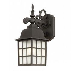 Outdoor Wall Lantern with LED Light Bulb | 3344 BK 10W LED | Destination Lighting
