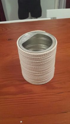Rope cover formula tin for utencil holder!