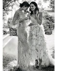 """Monique Lhuillier (@moniquelhuillier) på Instagram: """"Sheer Elegance @brides ✨ #moniquelhuillier #mlbride #bride #partytime"""""""