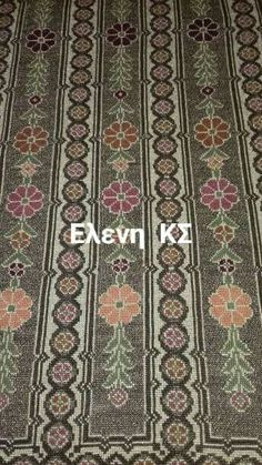 Cross Stitch Borders, Cross Stitch Patterns, Cross Stitch Embroidery, Bohemian Rug, Projects To Try, Diy Crafts, Top, Make Your Own, Homemade