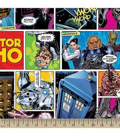 Doctor Who Comics Cotton Fabric