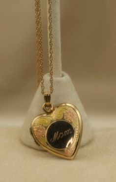 14 karat Gold Filled Vintage Mom Heart by DianaKirkpatrickArt