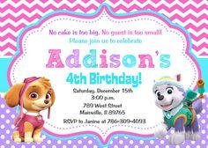 Pata de patrulla cumpleaños invitación fiesta por PrettyPaperPixels
