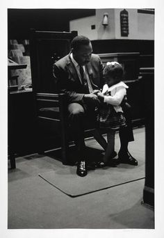 Ebenezer Baptist Church. Dr. King with Daughter Bernice (Bonnie). Atlanta, 1967 | The Martin Luther King Jr. Center for Nonviolent Social Change