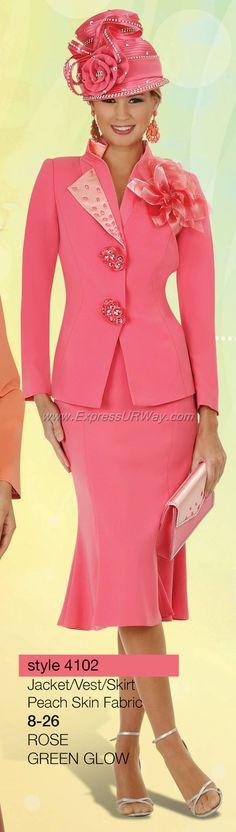 Rose Church suit. Beautiful!                                                                                                                                                      More